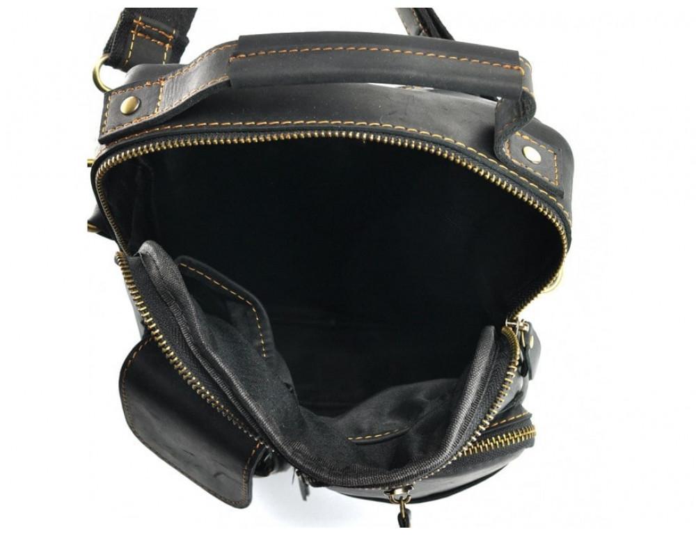 Кожаная барсетка TIDING BAG t1171A чёрная - Фото № 2