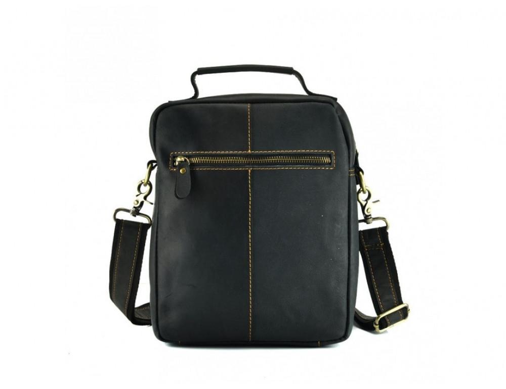 Кожаная барсетка TIDING BAG t1171A чёрная - Фото № 5