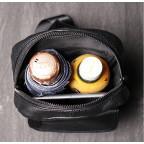 Чёрная кожаная сумка слинг Vintage Vn123-5A - Фото № 106