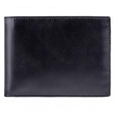 Мужской кожаный кошелек Visconti VSL20 BK/CB с RFID чёрный с синим