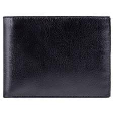 Чоловічий шкіряний гаманець Visconti VSL20 BLK/RED з RFID чорний з червоним