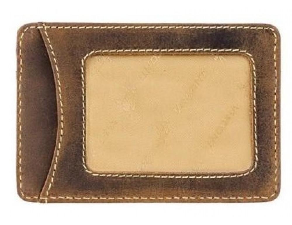 Кожаный кошелек-картхолдер VSL25 OIL TAN коричневый - Фото № 2