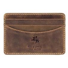 Кожаный кошелек-картхолдер VSL25 OIL TAN коричневый