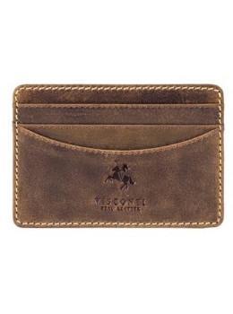 Шкіряний гаманець-Картхолдер VSL25 OIL TAN коричневий