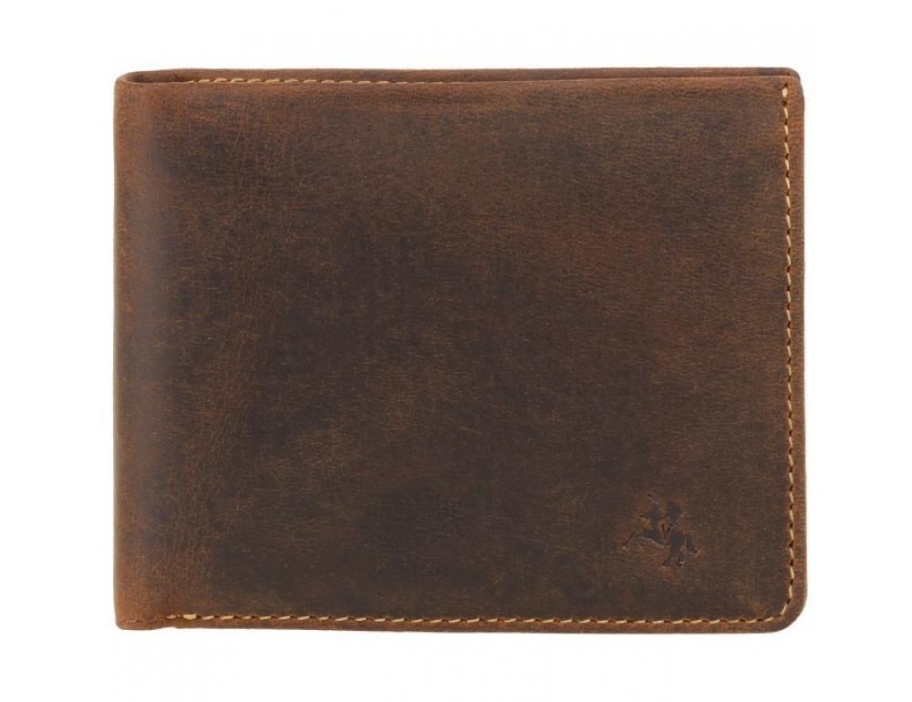 Винтажный мужской кошелёк из натуральной кожи Visconti VSL33 OIL TAN - Фото № 1