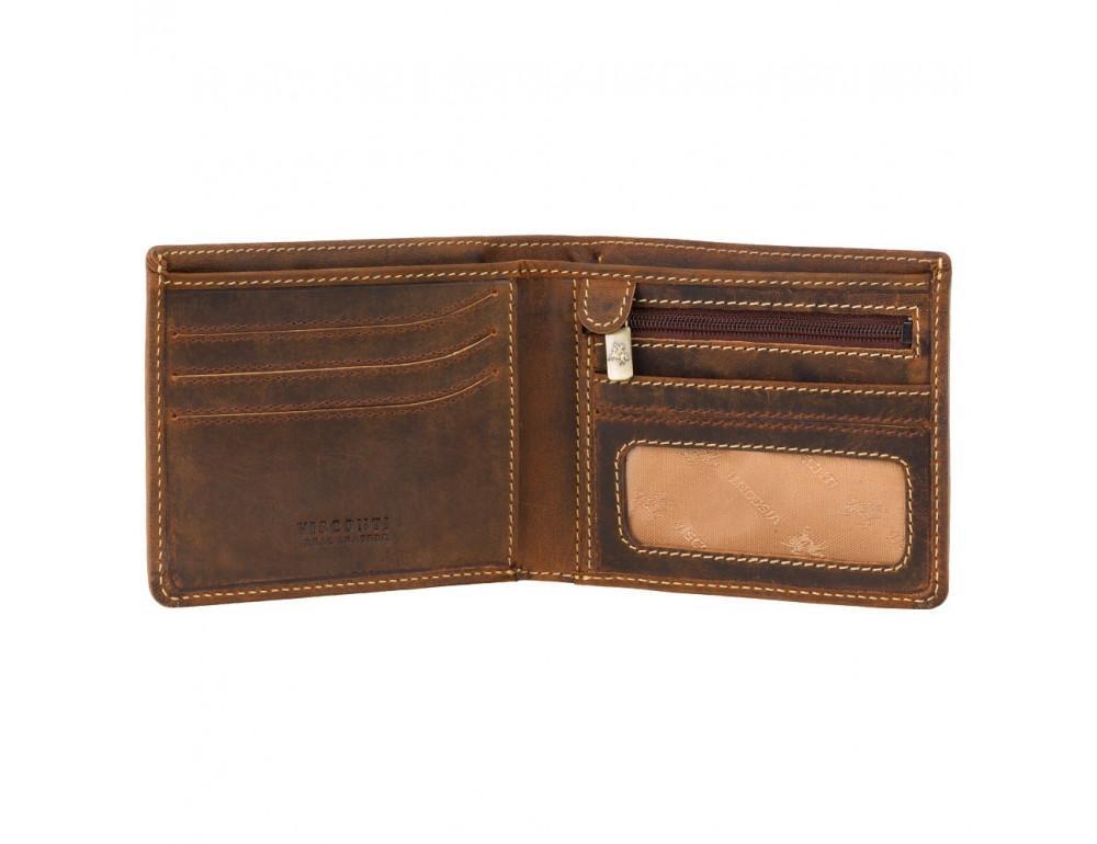 Винтажный мужской кошелёк из натуральной кожи Visconti VSL33 OIL TAN - Фото № 2