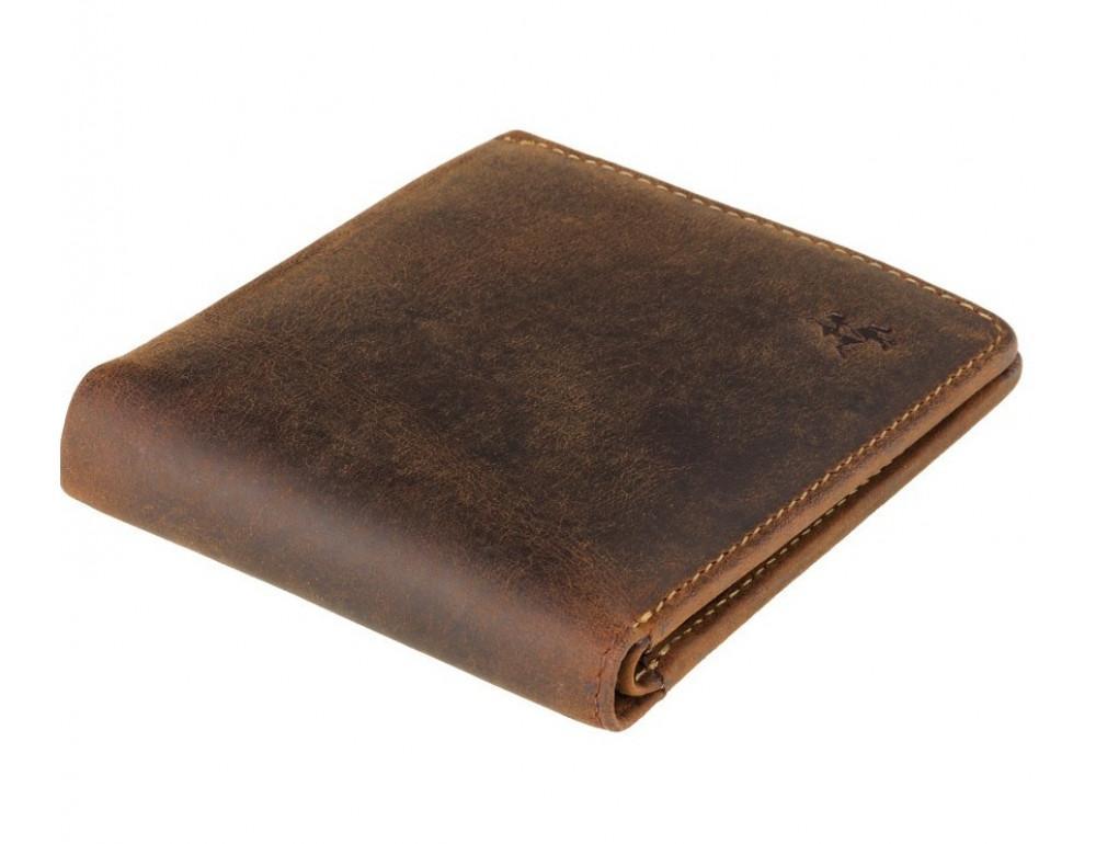 Винтажный мужской кошелёк из натуральной кожи Visconti VSL33 OIL TAN - Фото № 3
