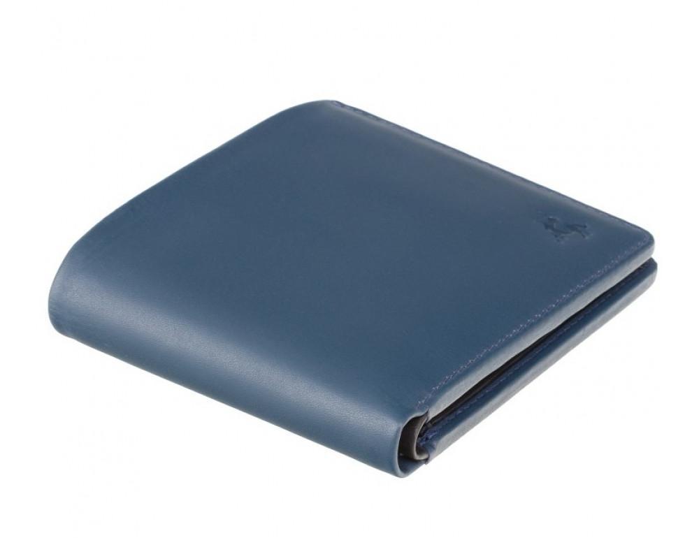 Синий мужской кожаный кошелек Visconti VSL33 BL/BLK c RFID - Фото № 3