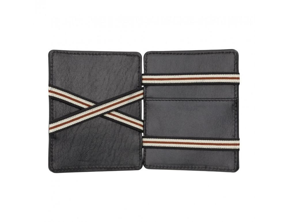 Чёрный кожаный картхоледр - мини кошелёк Visconti  VSL38 BLK - Фото № 2
