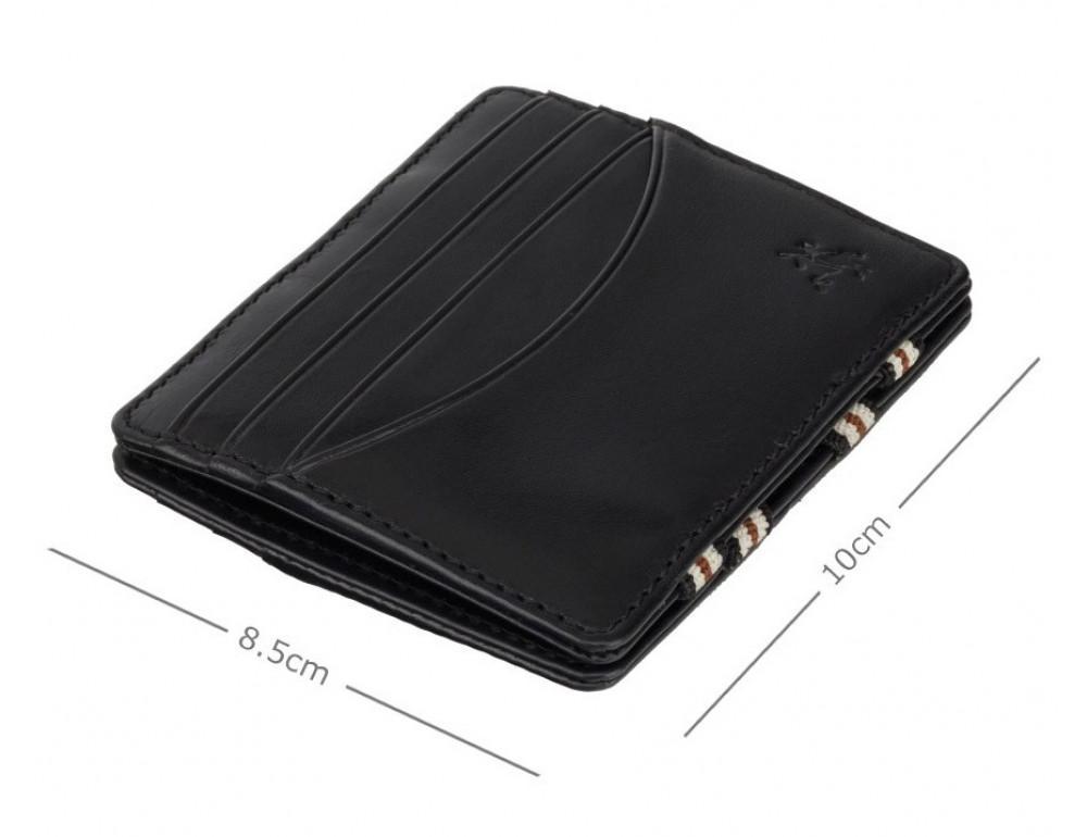 Чёрный кожаный картхоледр - мини кошелёк Visconti  VSL38 BLK - Фото № 3