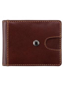 Коричневый кожаный зажим для денег Visconti VSL57 BRN