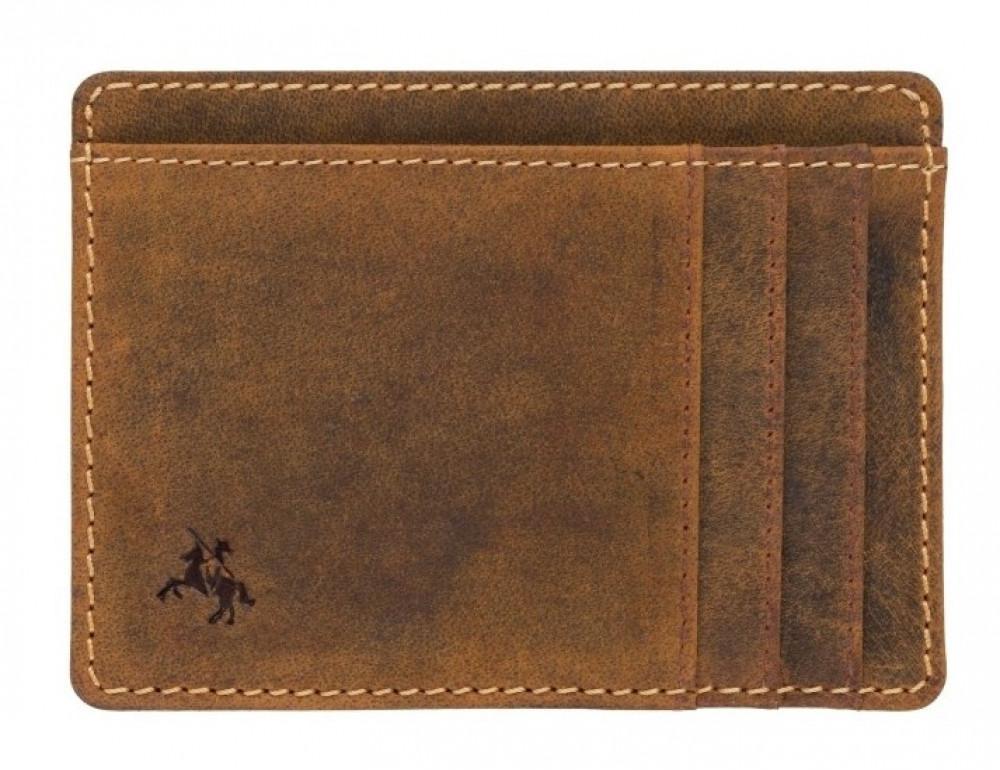 Коричневый кожаный картхолдер Visconti VSL58 OIL TAN Stealth - Фото № 1