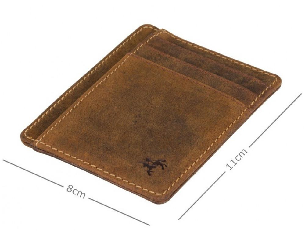 Коричневый кожаный картхолдер Visconti VSL58 OIL TAN Stealth - Фото № 3
