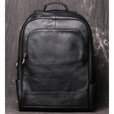 Чорний шкіряний рюкзак Vintage Vt1003A