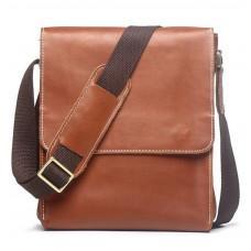 Светло-коричневый кожаный мессенджер из вольей кожи Vintage Vt1017C