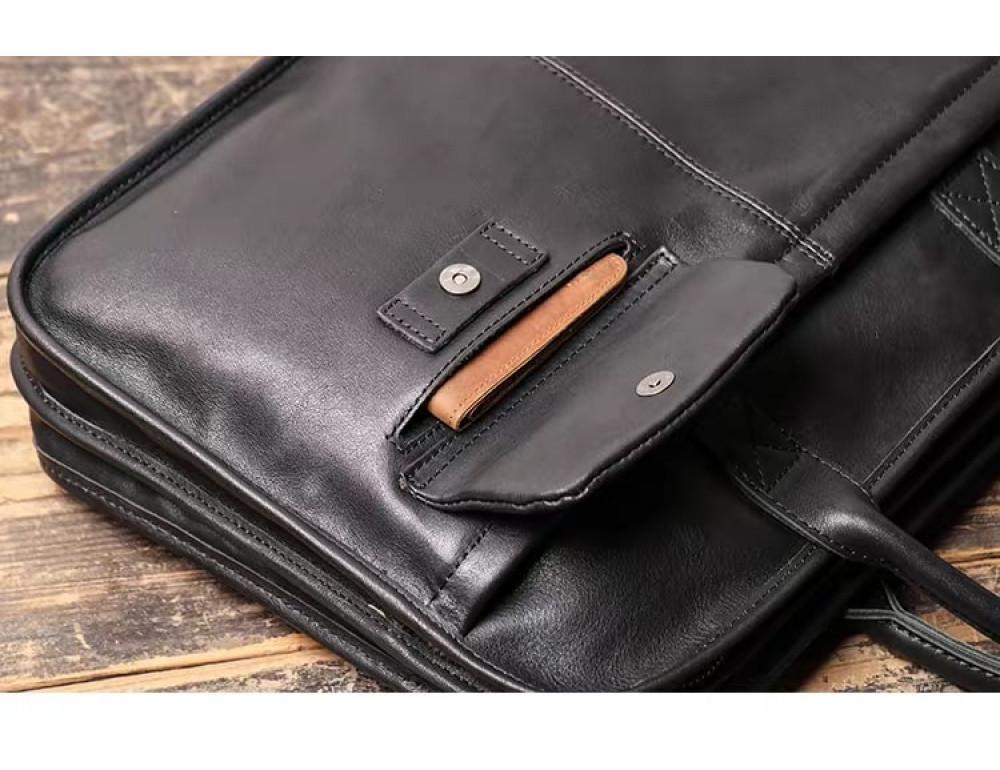 """Стильная кожаная сумка под ноутбук 15""""6 дюйма Vintage Vt1027A - Фото № 3"""