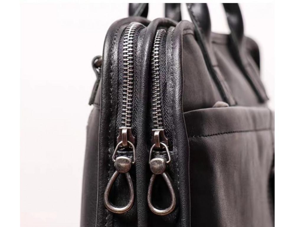 """Стильная кожаная сумка под ноутбук 15""""6 дюйма Vintage Vt1027A - Фото № 5"""