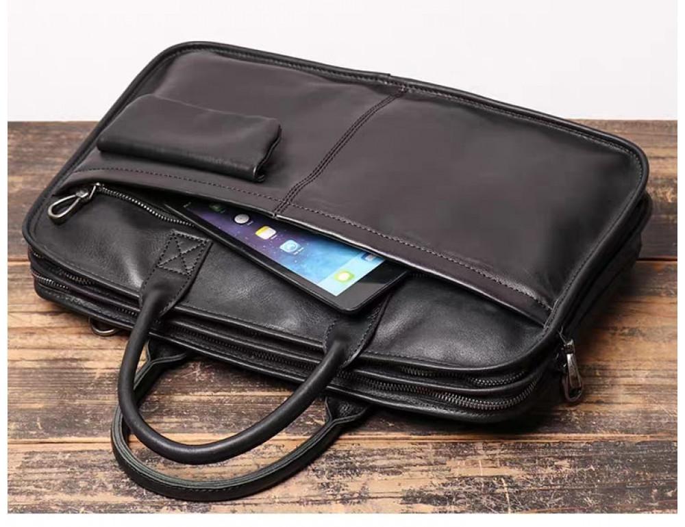 """Стильная кожаная сумка под ноутбук 15""""6 дюйма Vintage Vt1027A - Фото № 6"""