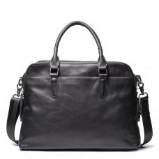 Чорна шкіряна сумка під документи Vintage Vt9002A