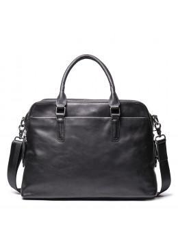 Черная кожаная сумка под документы Vintage Vt9002A