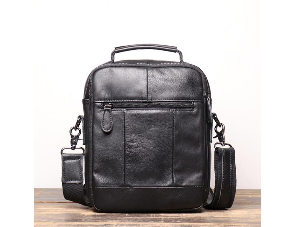 Чёрный кожаный месседжер мужской Vintage Vt99887A - Фото № 2