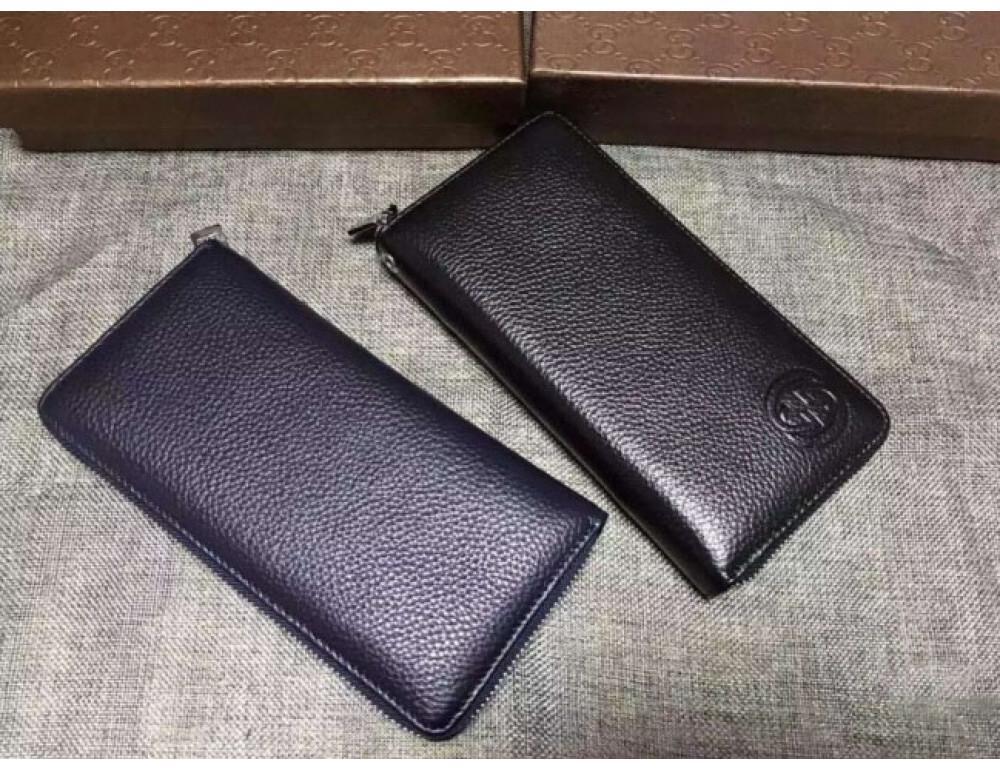 Кожаный клатч Gucci Wallet4-7008 чёрный - Фото № 5