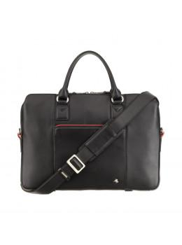 Чорна ділова жіноча сумка Visconti WB70 BLK Harriet 13 (Black)