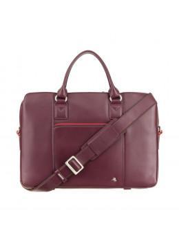 Бордова жіночий діловий сумка Visconti WB70 PLUM Harriet 13 (Plum)