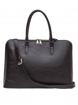 Женская кожаная сумка для ноутбука Newery N2022GC